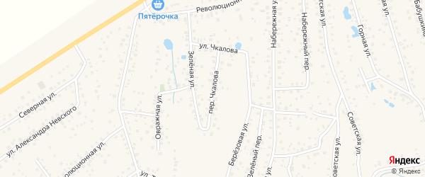Улица Чкалова на карте села Иглино с номерами домов