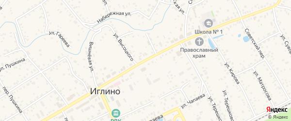 Объездная улица на карте села Иглино с номерами домов