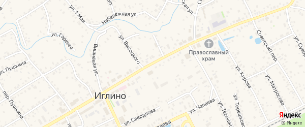 Улица С.Савицкой на карте села Иглино с номерами домов
