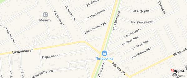Грушевая улица на карте села Иглино с номерами домов