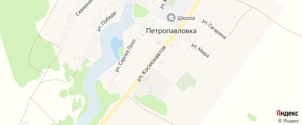 Улица Космонавтов на карте деревни Петропавловки с номерами домов