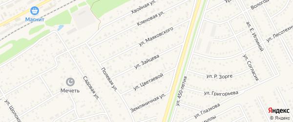 Улица Зайцева на карте села Иглино с номерами домов