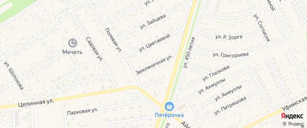 Земляничная улица на карте села Иглино с номерами домов