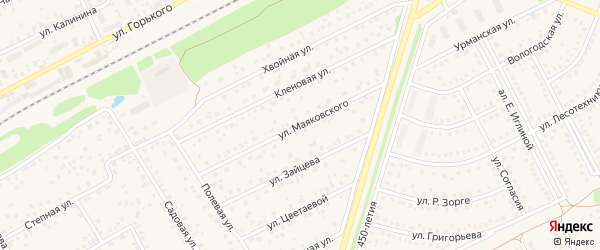 Улица Маяковского на карте села Иглино с номерами домов