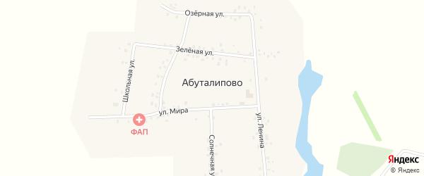 Солнечная улица на карте деревни Абуталипово с номерами домов