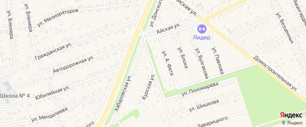 Курская улица на карте села Иглино с номерами домов