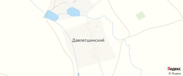 Политотдельская улица на карте деревни Давлетшинского с номерами домов
