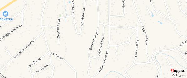 Березовая улица на карте села Иглино с номерами домов
