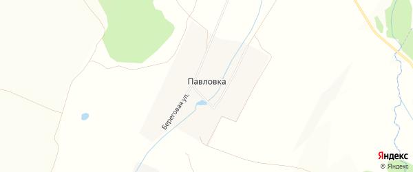 Карта деревни Павловки в Башкортостане с улицами и номерами домов