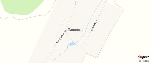 Береговая улица на карте деревни Павловки с номерами домов