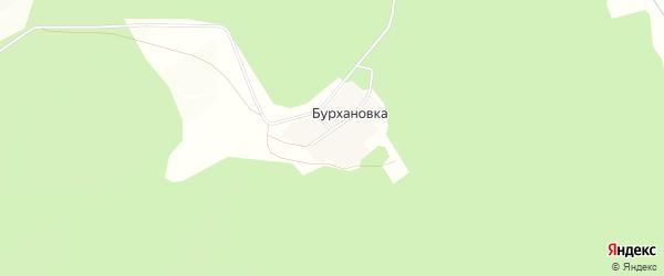 Карта деревни Бурхановки в Башкортостане с улицами и номерами домов