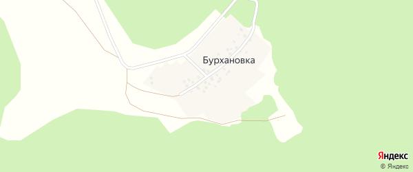 Центральная улица на карте деревни Бурхановки с номерами домов