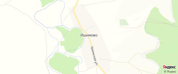 Карта деревни Ишимово в Башкортостане с улицами и номерами домов