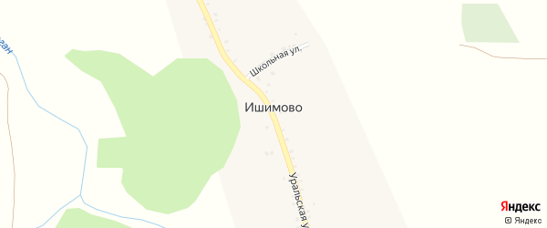 Школьная улица на карте деревни Ишимово с номерами домов