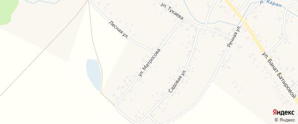 Улица Матросова на карте села Новые Киешки с номерами домов