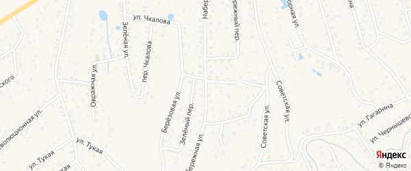 Набережная улица на карте села Иглино с номерами домов