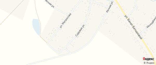 Садовая улица на карте села Новые Киешки с номерами домов