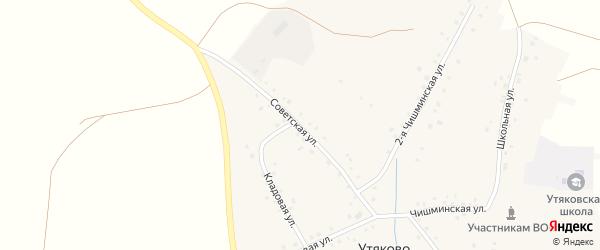 Советская улица на карте села Утяково с номерами домов