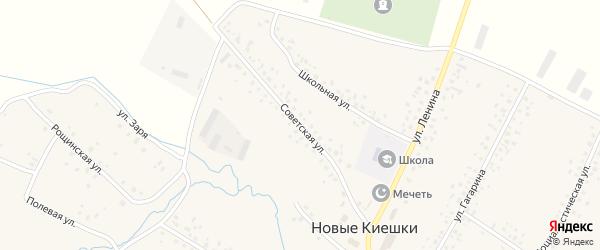 Советская улица на карте села Новые Киешки с номерами домов