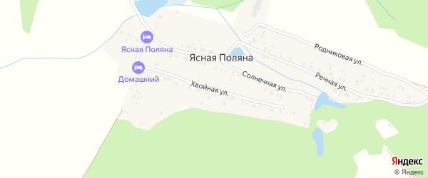 Хвойная улица на карте деревни Ясной Поляны с номерами домов
