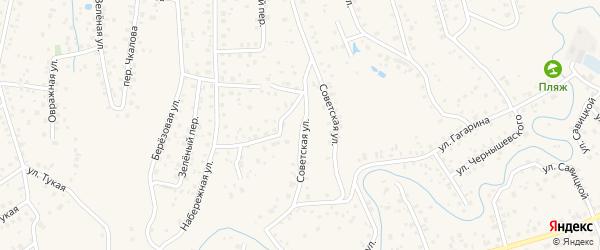 Советская улица на карте села Иглино с номерами домов
