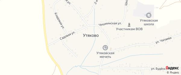 Кладовая улица на карте села Утяково с номерами домов