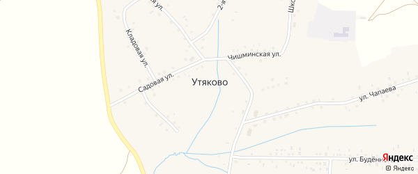 Подгорная улица на карте села Утяково с номерами домов