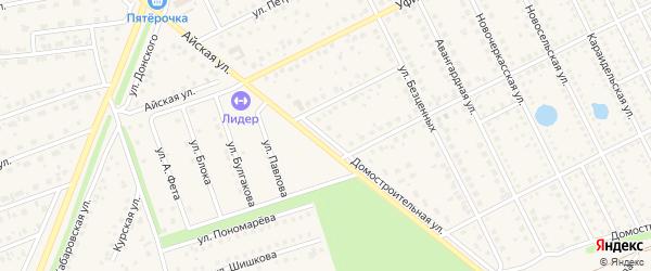 Домостроительная улица на карте села Иглино с номерами домов