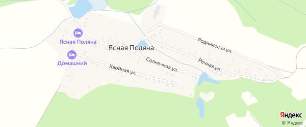 Речная улица на карте деревни Ясной Поляны с номерами домов