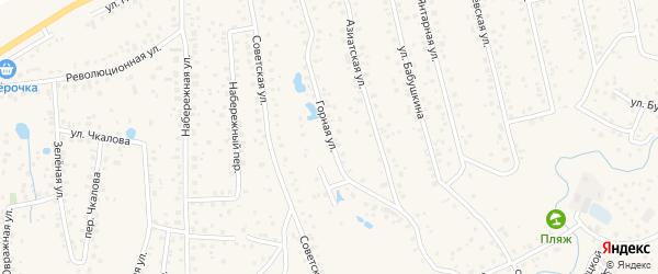 Горная улица на карте села Иглино с номерами домов