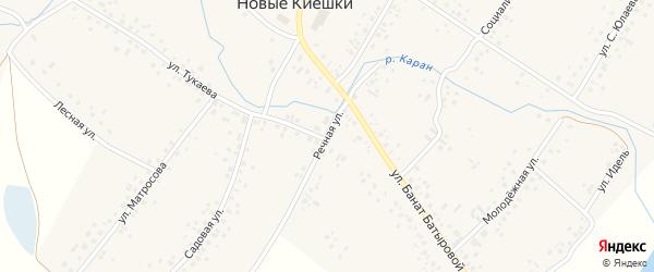 Речная улица на карте села Новые Киешки с номерами домов