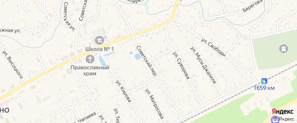 Советский переулок на карте села Иглино с номерами домов