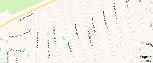 Азиатская улица на карте села Иглино с номерами домов