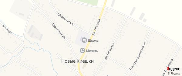 Улица Ленина на карте села Новые Киешки с номерами домов