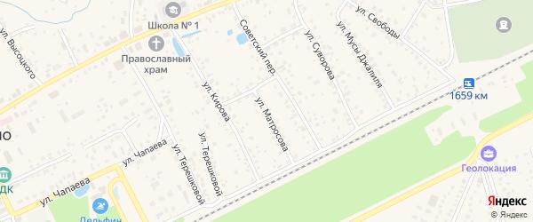 Улица Матросова на карте села Иглино с номерами домов
