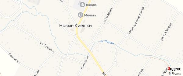 Полевая улица на карте села Новые Киешки с номерами домов