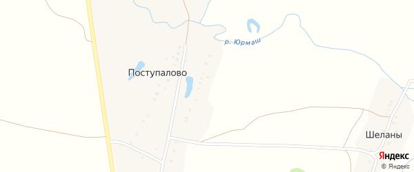 Васильковая улица на карте деревни Поступалово с номерами домов