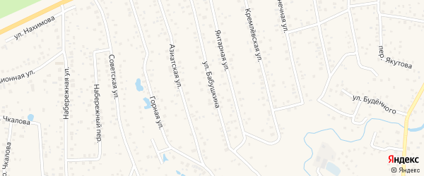 Улица Бабушкина на карте села Иглино с номерами домов