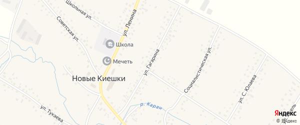 Улица Гагарина на карте села Новые Киешки с номерами домов