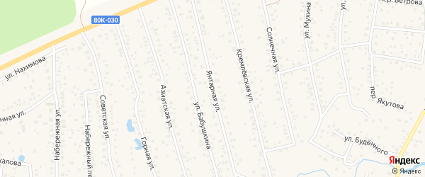 Янтарная улица на карте села Иглино с номерами домов
