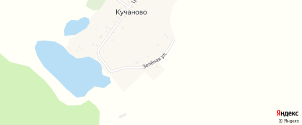 Зеленая улица на карте деревни Кучаново с номерами домов