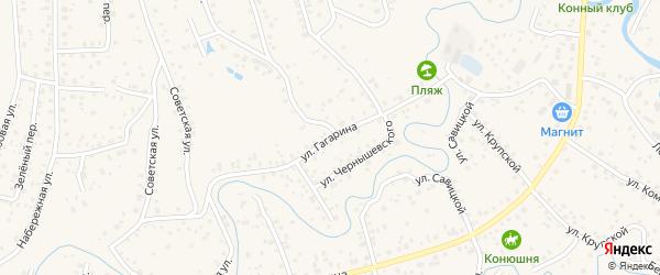 Улица Гагарина на карте села Иглино с номерами домов