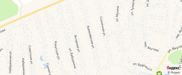 Кремлевская улица на карте села Иглино с номерами домов