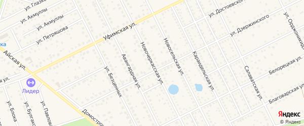 Новочеркасская улица на карте села Иглино с номерами домов