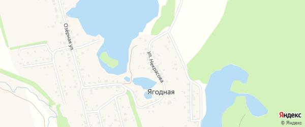 Улица Некрасова на карте Ягодной деревни с номерами домов