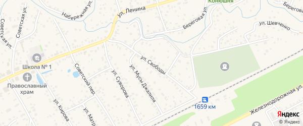 Улица Свободы на карте села Иглино с номерами домов