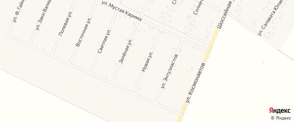 Новая улица на карте села Прибельского с номерами домов