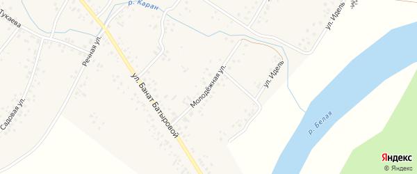 Молодежная улица на карте села Новые Киешки с номерами домов