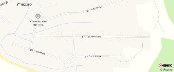 Улица Буденного на карте села Утяково с номерами домов
