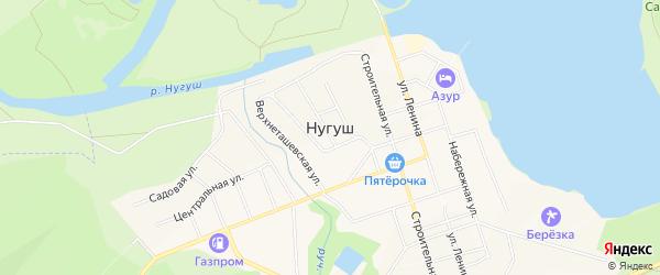 СНТ Заря на карте села Нугуша с номерами домов